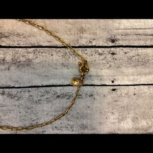 J. Crew Jewelry - J. Crew Necklace Gold Chain & Crystal Beads